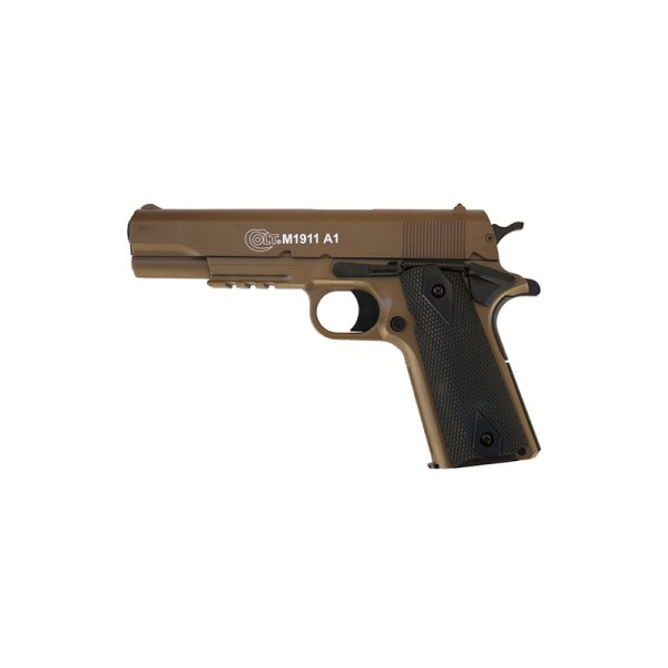 AIRSOFT VZMETNA PIŠTOLA COLT 1911 TAN DUAL COLOR